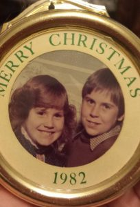 Christmas ornament 1982 nancy and pete