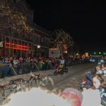 People lined Washington Street to cheer on the mushers and their dogs.