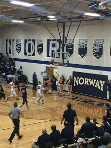 Negaunee Miners Boys Basketball VS Norway-Vulcan Knights on Sunny.FM 02/27/17