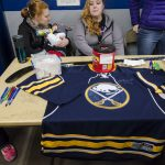 One of the raffle items was this autographed sabers jersey.