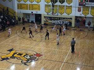 Negaunee Miners Girls Basketball VS Gwinn Modeltowners on Sunny.FM 03/01/17