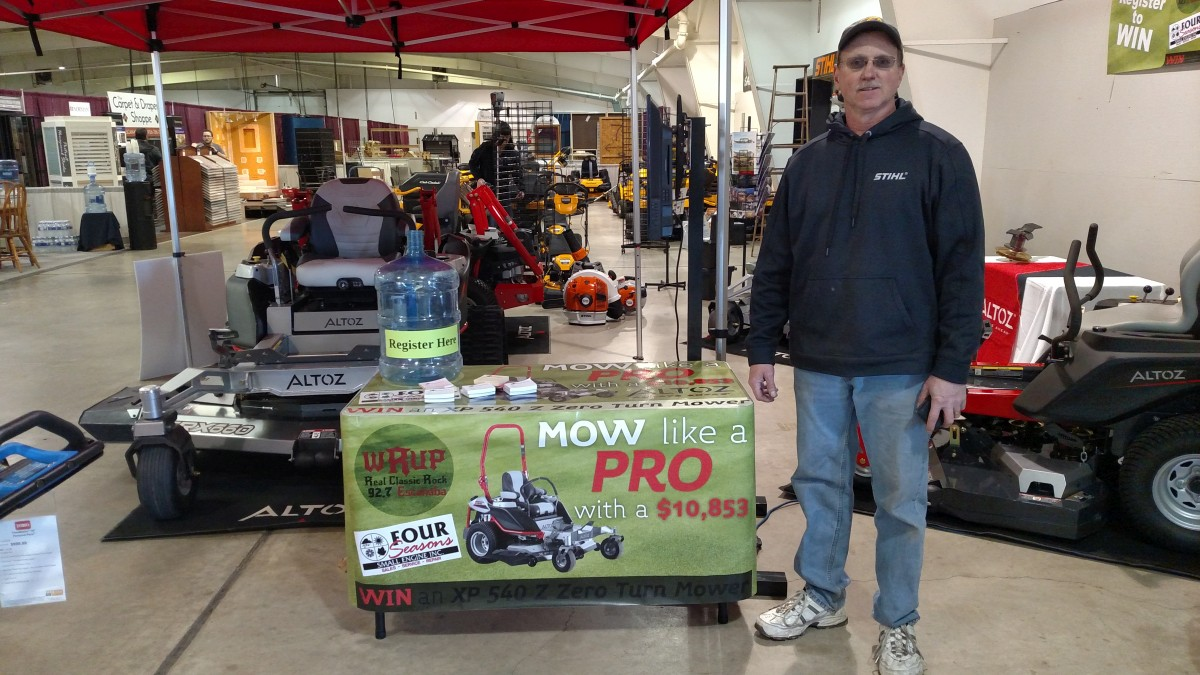 The mow like a pro giveaway party comes to river rock for Newberry motors newberry mi