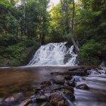 Morgan Falls in Marquette, Michigan - Saddleback Photography