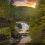Waterfall at Letchworth State Park during sunset - Photo by Danny Morris Photo Design
