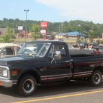 The classic trucks were so good looking.