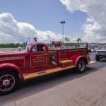 The fire truck made it's annual appearance and led the parade of cars