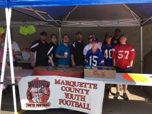All proceeds went to Marquette Co. Youth Football