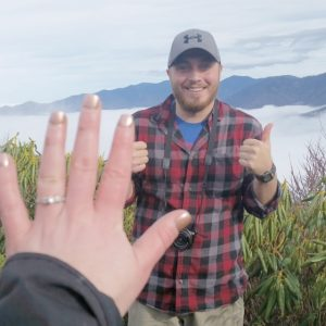 When she said yes at the top of the mountain in Gatlinburg, TN.