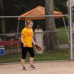 Kat was umpire for the day