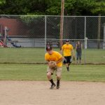 Ryan passing to first base