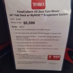 The Toro Exclusive - My Ride is at Four Seasons Small Engine in Escanaba.