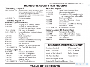 See the Schedule for the Marquette County Fair