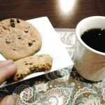 Enjoy the fresh cookies and coffee!