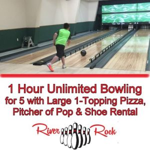 Unlimited bowling for 5 from River Rock Lanes and Banquet Center!
