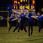 The Negaunee Dance Team wrapped up the half time break
