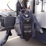 Some of the bomb squad gear, which weighs 80 lbs.