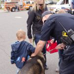 Meeting the K9 dog!