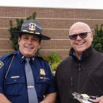 Todd Noordyk with a Michigan State Police Officer