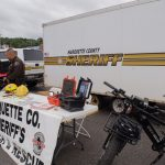 The Marquette County Sheriff's Search and Resue team was on site showing off their ATV and mountain bikes used to preform rescues.