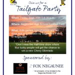 Join us for the Negaunee Miners Tailgate Party Friday, September 8, 2017