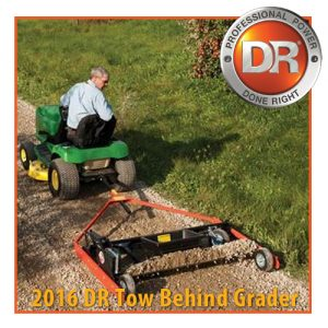 Fix your driveway or put in a new arena at the farm with a new grader from OK Rentals.