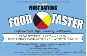 Get your ticket to the 2017 NMU First Nations Food Taster Meal!