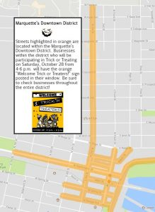 Use this map to fine businesses participating in Saturday's Trick or Treat event.