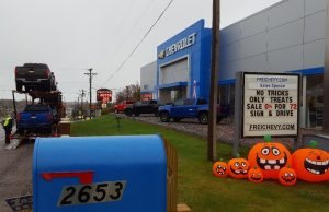 Frei Chevy Marquette MI No Tricks Just Treats Sale October 27 2017 - 06