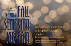 Attend the NMU Fall Job Fair Wednesday October 18th!