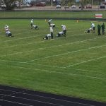 Manistique Emeralds warming up to play against the Negaunee Miners on Sunny.FM 10/06/17