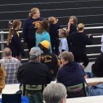 The Negaunee Miners fans are filling the stands 10/06/17