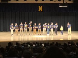 The Negaunee Miners Boys Basketball Team for the 2017-2018 season.