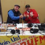 Todd and Josh hanging out at the Sunny.FM booth at Super One Foods.