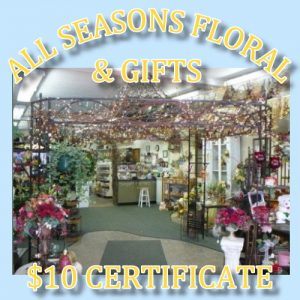 All Seasons Floral and Gifts is located at the Miracle Shopping Center in Ishpeming.