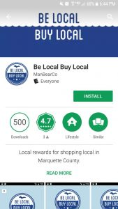 The view of the Be Local, Buy Local app from the play store