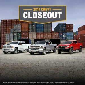 Visit Frei Chevy for the 2017 Closeout Sale!