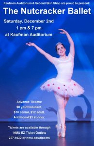 Come and see the Nutcracker Ballet at Kaufman Auditorium
