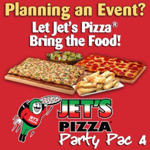 Get your party catered by Jet's Pizza.