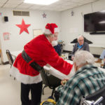 Santa gave each of the vets a special ornament.