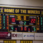 The score near the end of the second quarter.