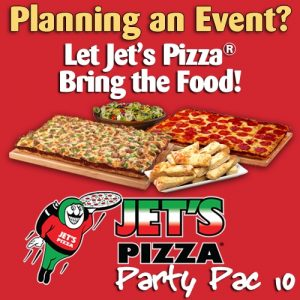 Let Jet's Bring the food to your party!