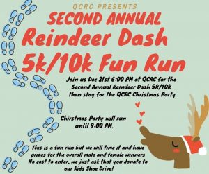 Attend the 2nd Annual QCRC Reindeer Cash & 5K/10k Fun Run