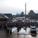 The Marquette Commons area during the gathering before the march.