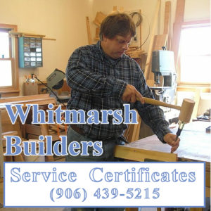 Call Paul Whitmarsh at (906) 439-5215 to work on your new shed.