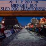 The starting gate of the UP 200 and Midnight Run sled dog races.