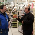 Darren and Todd Noordyk chatting on air about the events at Menards of Marquette.