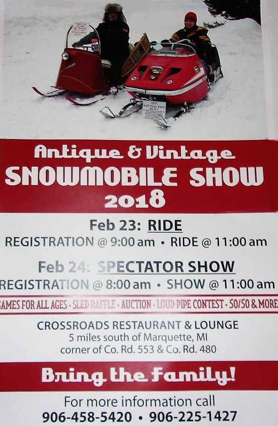 Antique and Vintage Snowmobile Show Rides Into Marquette