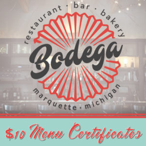 Stop by Cafe Bodega for lunch on Third Street in Marquette.