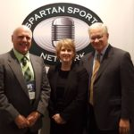 Great Lakes Radio Owner and GM Todd Noordyk, Spartan Sports Network Vice President Wendy Heart, and Spartan Sports Network President Will Tieman