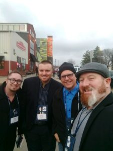 Great Lakes Radio's Ryan Ranguette, Bruce Whitehead, Todd Noordyk, and Alex Baysore.